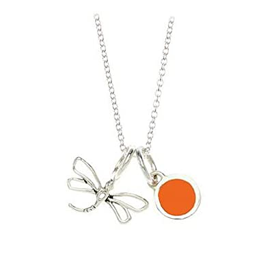 23e4172091b16 Amazon.com: Children Sterling Silver Dragonfly And Apricot Resin ...
