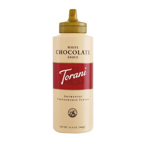 SAUCE WHITE CHOCOLATE, CASE OF 6/16.5 OZ, 03-0853 (TORANI) R TORRE AND CO SAUCES by Torani Classic Flavored Syrups