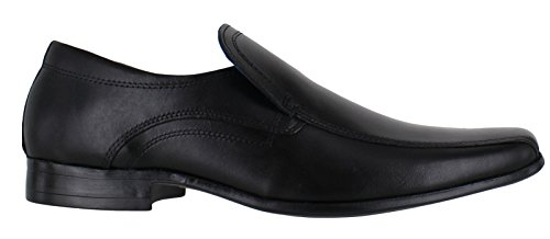 Red Tape Ulster Mens Smart Casual Leather Slip On Loafers Shoes Black ONJTI