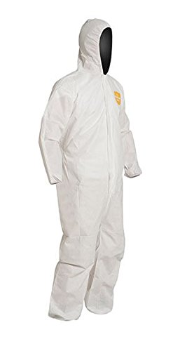 1 Coverall Proshield (Safety Vests - 3XL White DuPont ProShield Basic Coveralls - (2 Cases; 25/Case) - R3-PB127SWH3X002500)