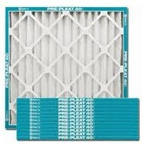 Flanders Value Pleat Extended Surface Pleated Air Filter, Merv 8, 24X24X1 In.