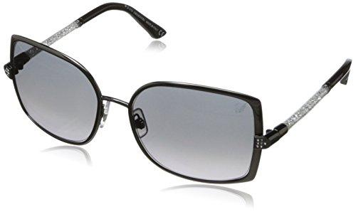 Swarovski Women's Camie Square Sunglasses,Shiny Gunmetal,58 - Swarovski Sunglasses