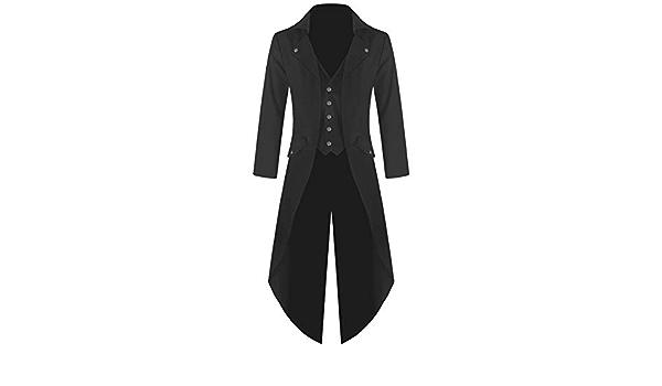 Banned Frock Tail Manteau Veste Officier Gothique El/égante Queue De Pie Noir