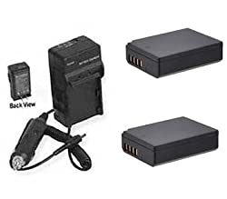 2x Batteries + Charger For Canon Eos Rebel T5 Eos 1200d Eos Rebel T3 Eos 1100