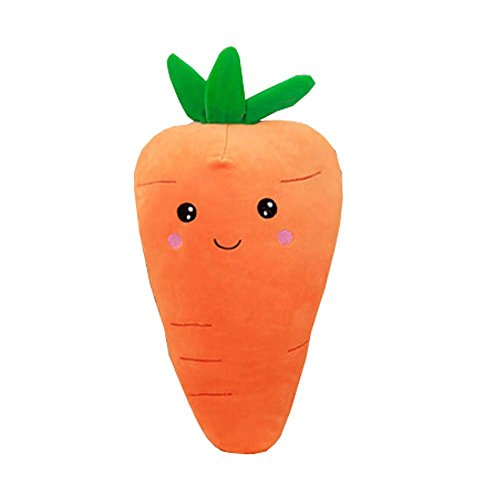 Vegetables Hand Warm Plush Toy Pillow Stuffed Soft Toy Soft Plush Cushion,Carrot (Carrot Pillow)