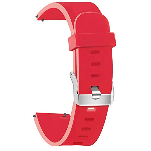Vetoo Watch Band, Quick Release Silicone Watch Bands, Choose Color and Width 18mm, 20mm, 22mm, Rubber Replacement Band for Traditional & Smart Watch