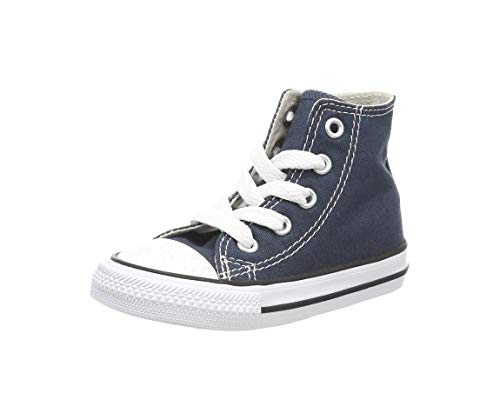 Converse Kid's Chuck Taylor All Star High Top Shoe, Navy, 7 Toddler (1-4 Years) -