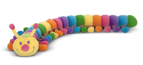 - Melissa & Doug Longfellow Caterpillar - Rainbow-Colored Stuffed Animal With 32 Floppy Feet (over 2 feet long)