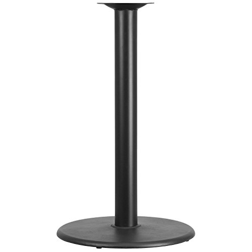 Flash Furniture 24'' Round Restaurant Table Base with 4'' Dia. Bar Height (Black Cast Iron Table Base)