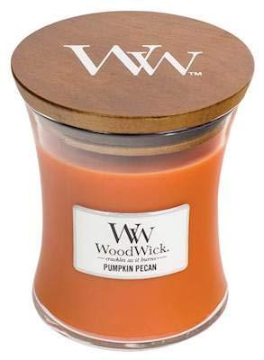 WoodWick Pumpkin Pecan 10oz Medium Jar Candle Burns 100 Hours ()