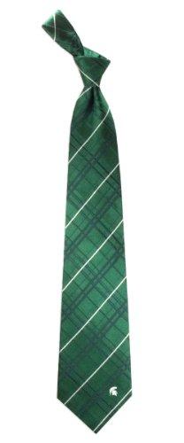 Michigan State Oxford Stripe Woven Silk Necktie