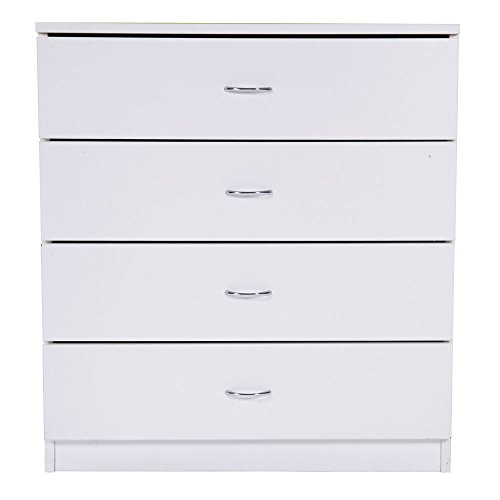 FCH 4-Drawer Dresser Stylish Storage Chest with drawers Cabinet Home office,White