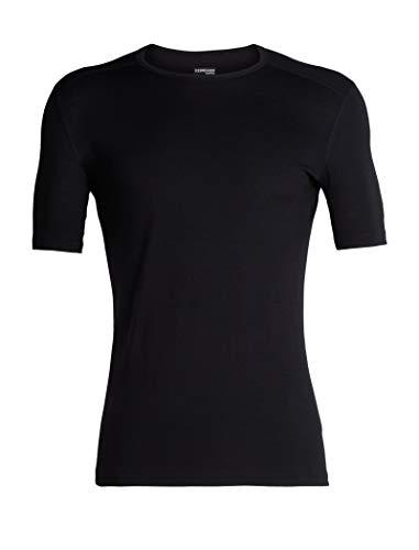 (Icebreaker Merino Men's 200 Oasis Short Sleeve Crew Neck Shirt, Black,)