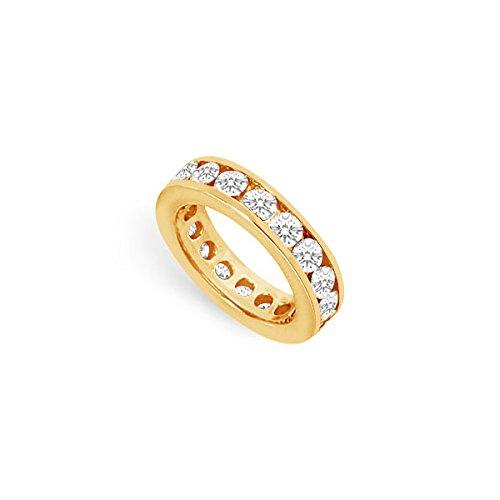 Dos y medio carat Circonita Cúbica Anillo de eternidad en oro amarillo de 14 K Tercer Aniversario de boda Gif: SUMMI: Amazon.es: Joyería