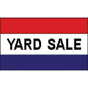 Flag Sign Yard Sale Poly 3ftx5ft