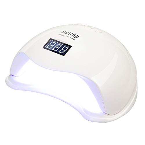UV/LED Nail Lamp, OUTTOP 48W/24W LED Light Nail Dryer Quick Dry ...