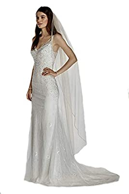 Passat Bridal Veil Edged with Clear Beads and Sequins Wedding Veils Rhinestone Edge VL-1025