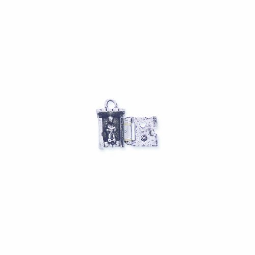 Shipwreck Beads Pewter Outhouse Charm, Silver, 12 by 18mm, 2-Pack (2 Charms Pewter)