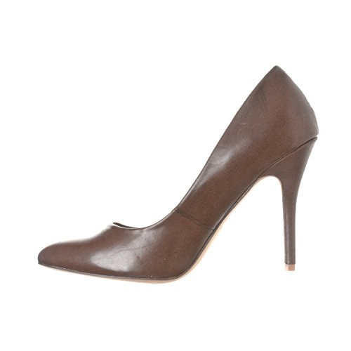 Coffee Closed Women's Riverberry Heels Pump Toe Stiletto Pu Pointed Gaby q87wp7tg