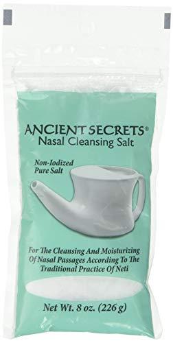 Ancient Secrets Nasal Cleansing Pot Salt - Bag, 8 Ounce - 6 per case.
