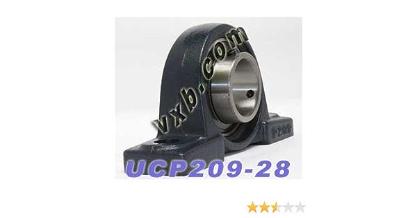 "UCP209-28 Solid Foot P209 4 PIECES 1-3//4/"" Pillow Block Bearing"