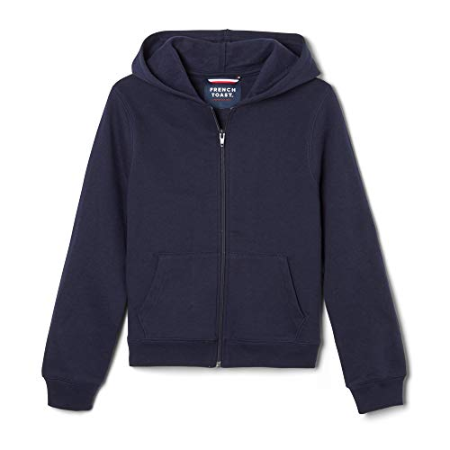 French Toast  Boys' Fleece Hooded Sweatshirt, Navy, 3T,Toddler Boys ()