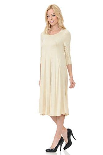 in 25 USA Colors Line Midi Dress Women's Made A Cream by Vivienne Trapeze Pastel UBHPzz