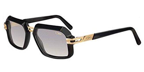 Cazal 6004 Sunglasses 001SG Shiny Black Gold / Grey Gradient Lens 56 mm