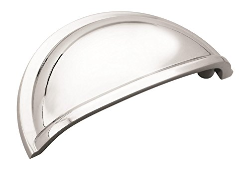 - Amerock BP5301026 Cup Pulls 3 in (76 mm) Center-to-Center Polished Chrome Cabinet Cup Pull