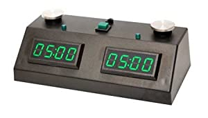 Black/Green Zmart Chess Clock with Black Bag