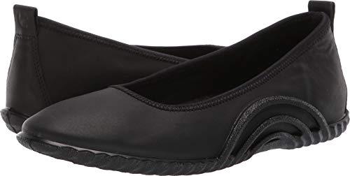 ECCO 女士平底芭蕾舞鞋,小牛皮材质柔软光滑