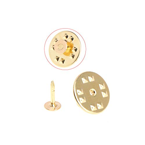 (Tebatu 100Pieces Tie Tack Clutch Pins Round Butterfly Brass DIY Crafts Jewelry Replacement)
