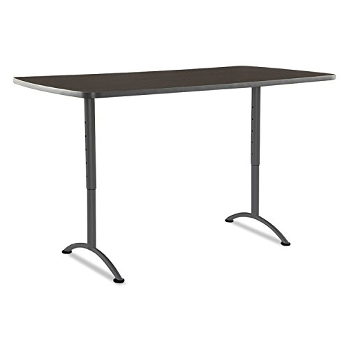 Iceberg 69324 ARC Sit-to-Stand Tables, Rectangular Top, 36w x 72d x 30-42h, Walnut/Gray by Office Realm