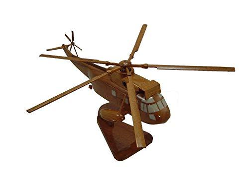 (SH3 Sea King Mahogany Wood Desktop Helicopter Model)