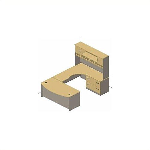 - Bush Business Series C 4-Piece U-Shape Right-Hand Computer Desk