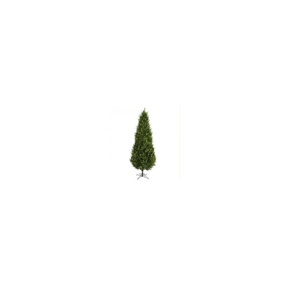 9 Pre Lit Cedar Fir Artificial Christmas Tree   Clear Lights