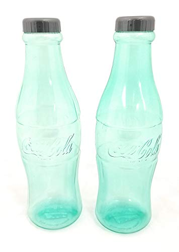 2 Pack Coca-Cola Coke Bottle Bank for Saving and Storing Coins - Includes: 2 Banks - Choose Color (Clear)