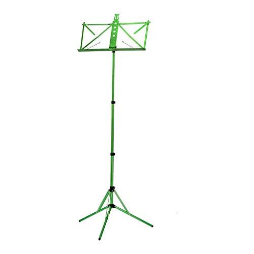 Portable Sheet Music Stand Foldable Lifting Violin Guitar Erhu Guzheng Music Stand (Color : Green)