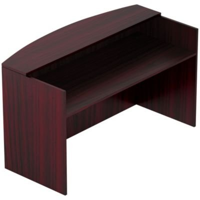 Offices to Go 71'' Reception Desk Shell-American Mahogany - American Mahogany