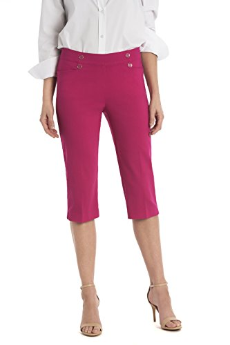 89th&Madison Women's Button Front Easy Fit Capri by 89th & Madison