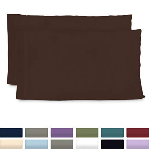 Cosy House Collection Premium Bamboo Pillowcases - King, Chocolate Pillow Case Set of 2 - Ultra Soft & Cool Hypoallergenic Blend from Natural Bamboo Fiber ()