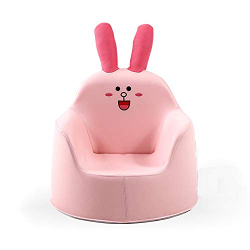 (WAYERTY Children Sofa, Children's Armchair Cartoon Baby Sofa Girl and boy Cute Furniture Upholstered Lazy Tatami seat Animal Kid Chair-Pink 49x45x47cm(19x18x19inch))