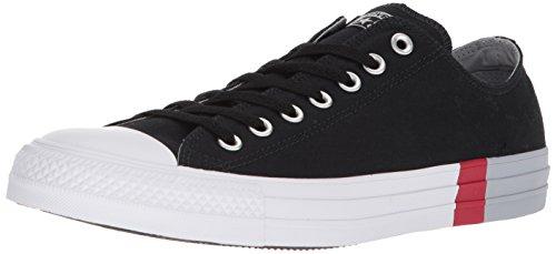 Converse Men's Chuck Taylor All Star Tri-Block Midsole Low Top Sneaker, Black/Wolf Grey/White, 11 M US