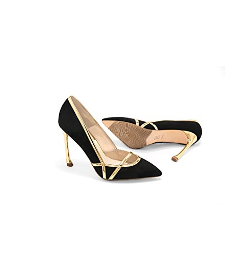 Size 10cm Black Shoes Suede High Dream Vintage Elegant Feminine Sexy Color Wedding Shoes Bridesmaid Comfortable Pointed Mouth Material Toe 34 Shoes Heels Shallow xxnpF17S