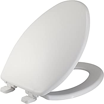 Mayfair Plastic Just Lift Toilet Seat Featuring Slow Close