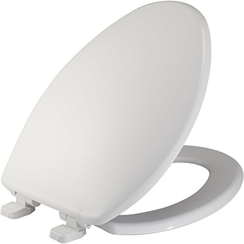 Mayfair Plastic Just Lift Toilet Seat Featuring Slow-Close, Elongated, White, 184SLOWJ - Close Slow Lid Toilet