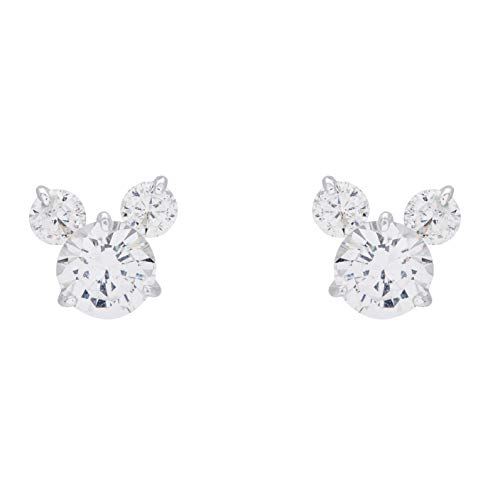 Disney Mickey Mouse Sterling Silver Cubic Zirconia Stud Earrings