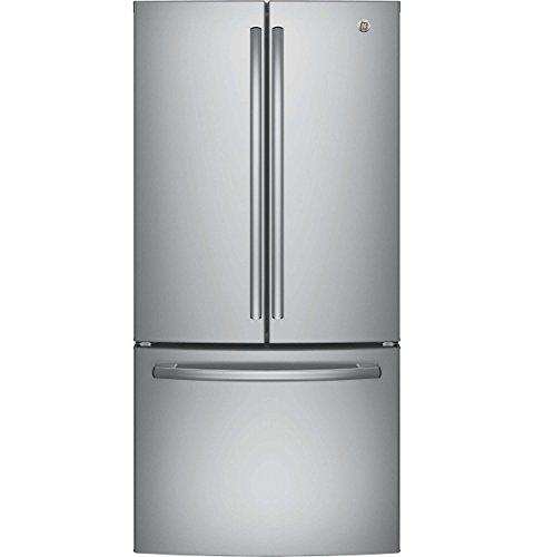 GE GWE19JSLSS 33″ Inch Counter Depth French Door Refrigerator with 18.6 cu. ft. Total Capacity in Stainless Steel
