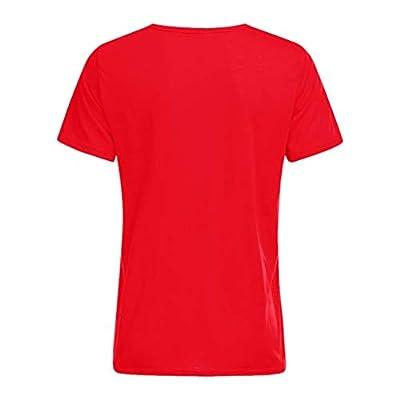 HDGTSA Men Casual Funny T-Shirt Musical Note Print Blouse O-Neck Short Sleeve Tees Tops(C Red,XL): Clothing