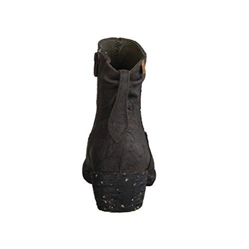 El Naturalista Quera NC56- Damenschuhe Modische Stiefelette, Grau, Ruga (Leder), Absatzhöhe: 40 mm